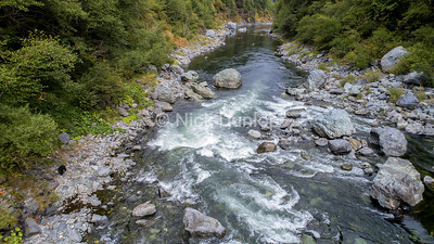 Smoker Falls, looking downstream, taken from my drone, and see the bear!