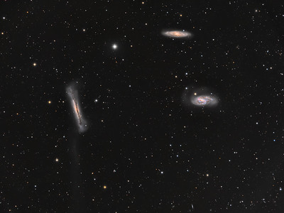 The Leo Triplet, M65, M66 and NGC3628