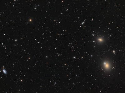 Messier 59 and 60 in the Virgo Cluster