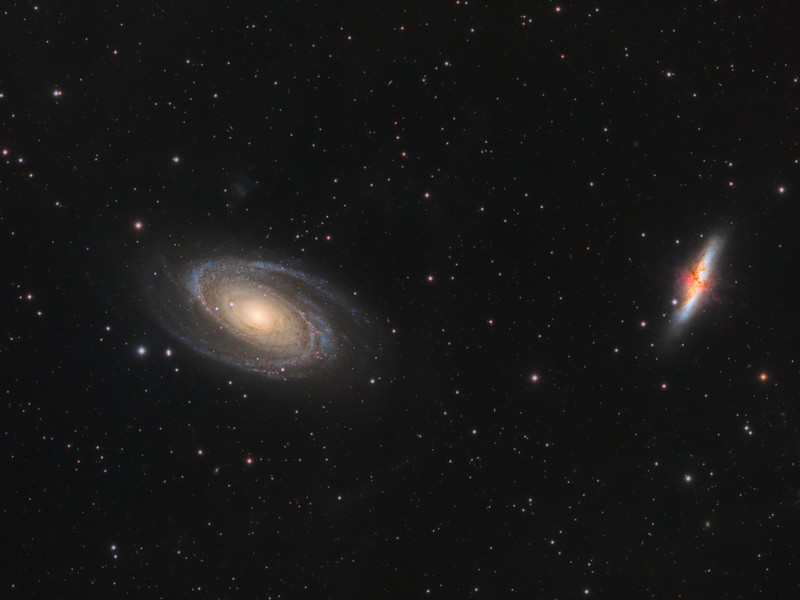 Messier 81 and 82