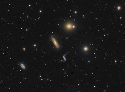 Hickson 44 galaxy cluster in Virgo