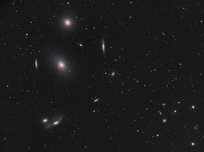 M84, M86 and The Eyes