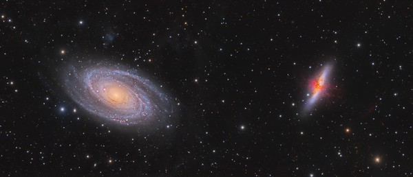 Messier 81 and 82 panorama