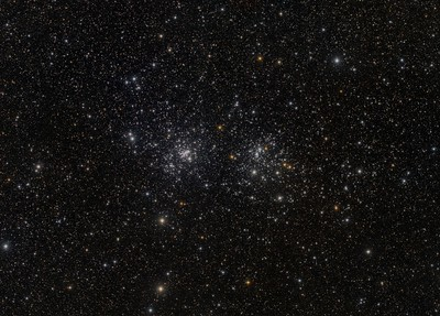 Double Cluster, Caldwell 14 mosaic