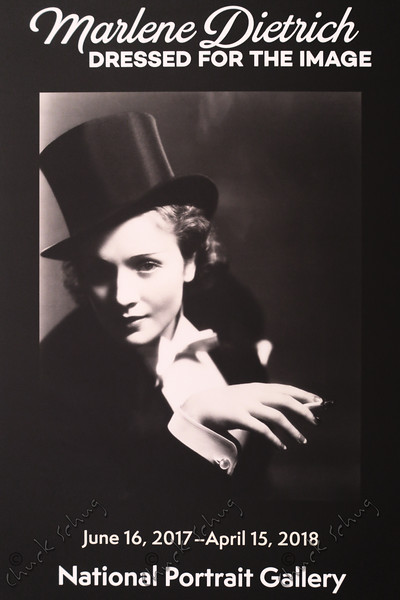 MARLENE DIETRICH: DRESSED FOR THE IMAGE - EXHIBIT INTRODUCTION POSTER AT THE NATIONAL PORTRAIT GALLERY
