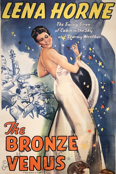 LENA HORNE - THE BRONZE VENUS - COLOR HALFTONE LITHOGRAPHIC MOVIE POSTER, 1943 - IN THE NATIONAL PORTRAIT GALLERY