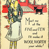 VINTAGE WOOLWORTH'S DEPARTMENT STORE ADVERTISING POSTER