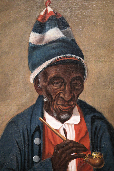 YARROW MAMOUT - PORTRAIT BY JAMES ALEXANDER SIMPSON - 44 YEARS A SLAVE, FREED AT AGE 60 - A BRICKMAKER, CHARCOAL MAKER, SHIP LOADER, BASKET WEAVER, ENTREPRENEUR AND PROPERTY OWNER.