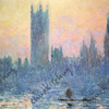 THE HOUSES OF PARLIAMENT, SUNSET - CLAUDE MONET, 1903 - NATIONAL GALLERY OF ART, WASHINGTON, DC