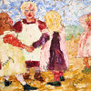 ROUND DANCE - EMIL NOLDE, 1909 - EXPRESSIONISM, OIL ON CANVAS - NATIONAL GALLERY OF ART, WASHINGTON, DC