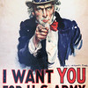 I WANT YOU - JAMES MONTGOMERY FLAGG, 1917 - FIRST WORLD WAR RECRUITING POSTER SOLD 4 MILLION COPIES