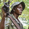 """oNE OF """"THE THREE SOLDIERS"""" BRONZE STATUE COMMEMORATING THE VIETNAM WAR, COMPLEMENTING THE VIETNAM VETERANS MEMORIAL WALL"""