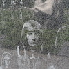 KOREAN WAR VETERANS MEMORIAL MURAL WALL'S GRANITE ETCHINGS WITH GHOSTLY REFLECTIONS OF THE STATUES OF THE ADVANCE PARTY INFANTRY SOLDIERS
