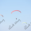 FOUR PARAGLIDERS