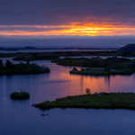 Sunset On Lake Myvatn
