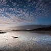 Looking out into Luskentyre bay across wet sands, Seilebost, West Harris