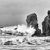 II)  Pounding waves on Dail Mor, Isle of Lewis