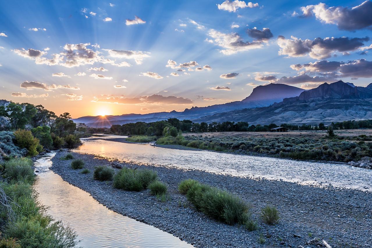 North Fork Shoshone River at Sunrise