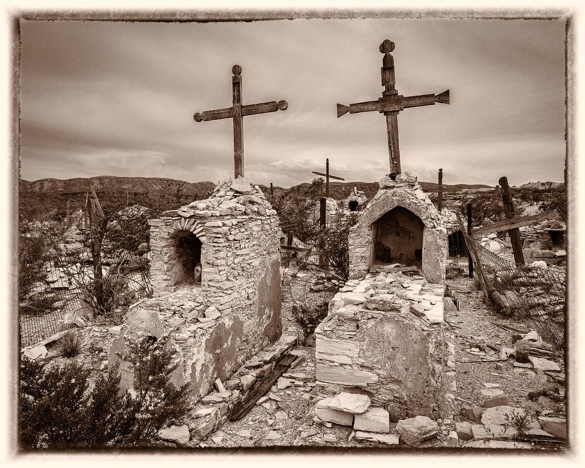 Terlingua Cemetery Toned