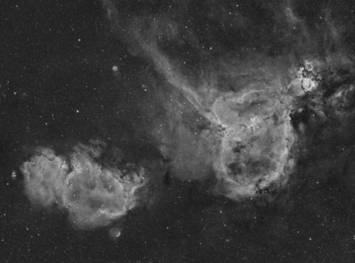 IC1805 & IC 1848 Mosaic in Ha mono . . . in all its glory