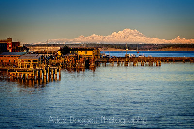 Snow-Covered Mount Baker and the North Cascades