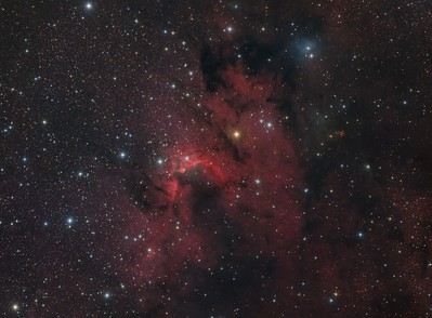 Sh2-155 The Cave Nebula, HaRGB
