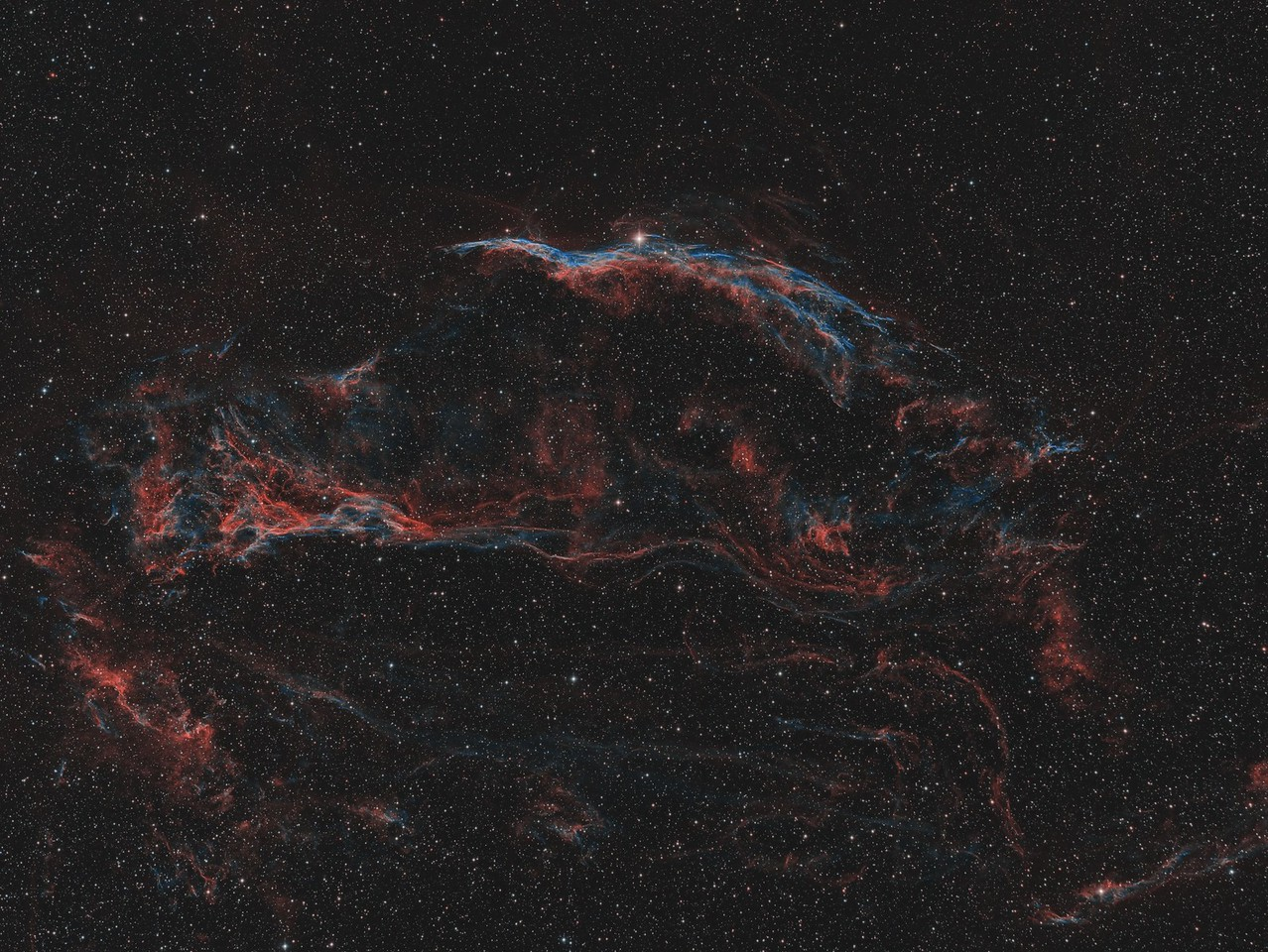 NGC6960 The Witch's Broom and Pickering's Triangle