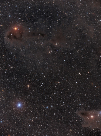 LDN 1250 and 1235 in dusty constellation Cepheus