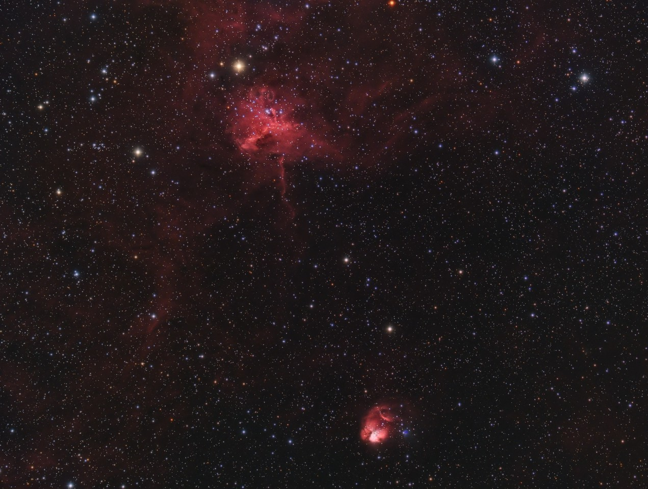 Sh2-234 IC417 The Spider and Fly Nebula