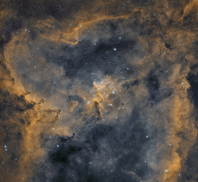 Melotte 15 in IC1805 The Heart Nebula
