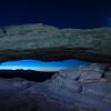 Moon Over Mesa Arch
