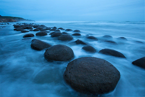 Bowling Ball Beach In The Blue Hour_