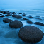 Bowling Ball Beach In The Blue Hour_