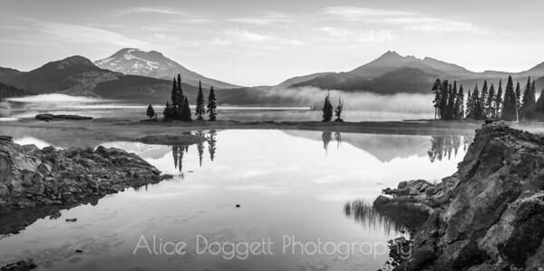Sparks Lake Black and White, Central Oregon