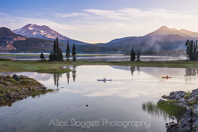 Early Morning Kayaking At Sparks Lake, Central Oregon