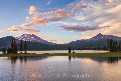 Colorful Clouds At Sparks Lake, Central Oregon Cascades