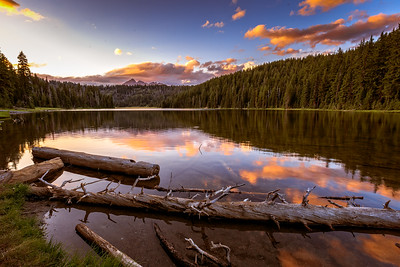 Sunset At Todd Lake, Central Oregon Cascades