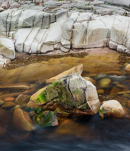 Rock pool in the River Etive