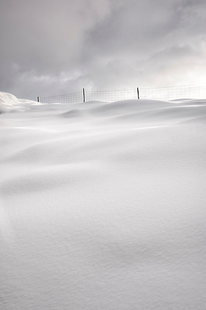 Snow drifts east of Ullapool