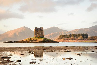 Castle Stalker, Loch Laich, a little before sunset