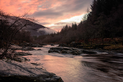 River Orchy at sunset