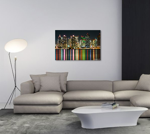 20686047 - contemporary stylish living room interior with sofa, coffe table, side table floor light and rug