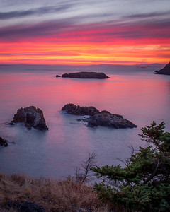 Salish Sea Sunset, Rosario Head, Deception Pass, WA