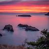 Salish Sea Sunset, Rosario Head, Deception Pass, WA
