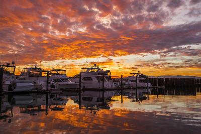 Sky On Fire - Anacortes Marina