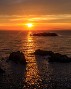 Salish Sea Sunset Starburst, Rosario Head, Deception Pass, WA