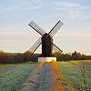 Pitstone windmill, Bucks., shortly after sunrise
