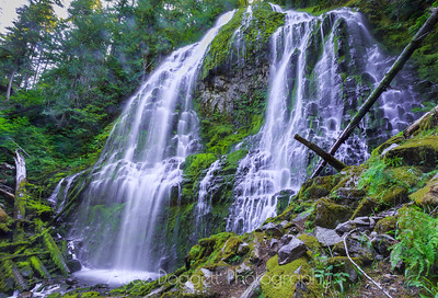 Proxy Falls, Oregon  Viewed From The Side