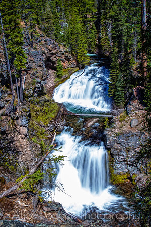Double Falls, Tumalo Creek, Central Oregon