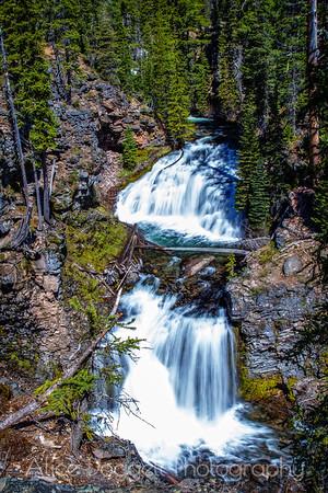 Double Falls, Tumalo Creek, Central Oregon